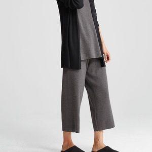 Eileen Fisher Wool Crop Wide Pants